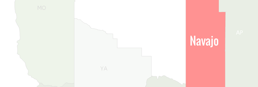 Navajo County Map